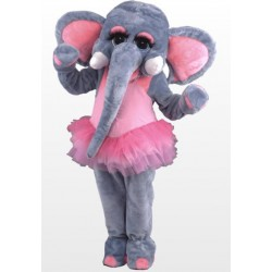 Pink and Gray Female Elephant Mascot Costume Free Shipping