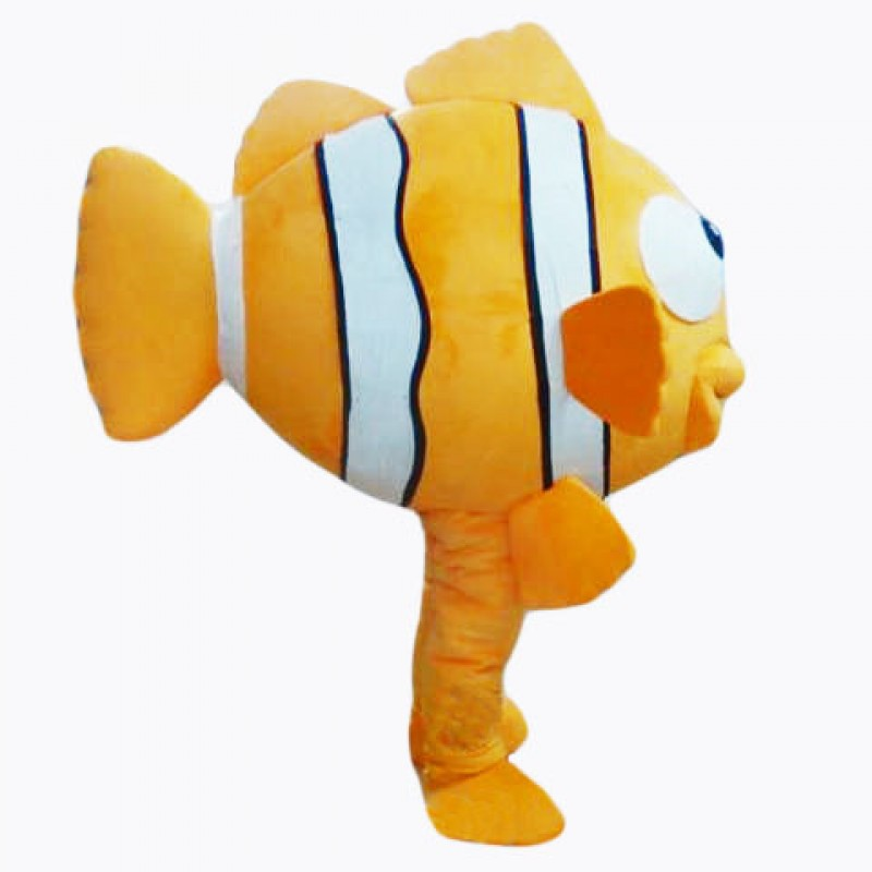 Beautiful Gold Fish Mascot Costume Free Shipping