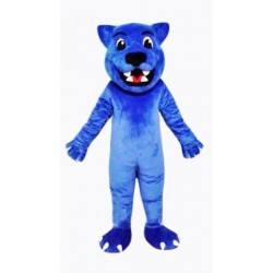 Blue Leopard Cute Panther Mascot Costume Free Shipping