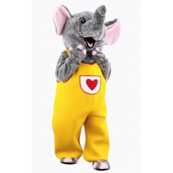 Female Cute Smilling Gray Elephant Mascot Costume Free Shipping