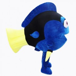 Beautiful Blue Fish Mascot Costume Free Shipping