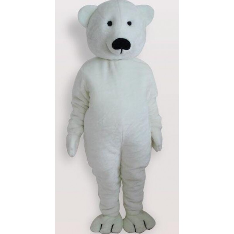 White Polar Bear Mascot Adult Costume