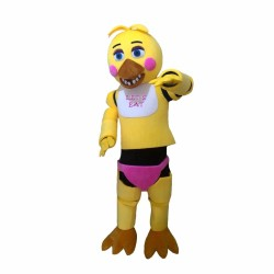 Five Nights At Freddy's Toy Chica Yellow Mascot Costume