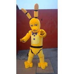 New Five Nights At Freddy's Golden Bonnie Mascot Costume