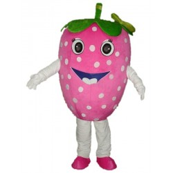 Pink Strawberry Fruit Mascot Costumes