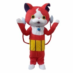 Youkai Watch Jibanyan Red Cat Mascot Costumes