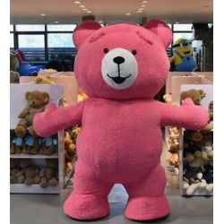 Cute Red Teddy Bear Mascot Costume Animal Costume
