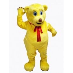 Yellow Cute Teddy Bear Mascot Costume