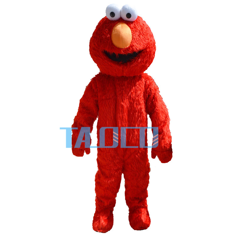 Sesame Street Red Elmo Monster Mascot Costume US IN STOCK