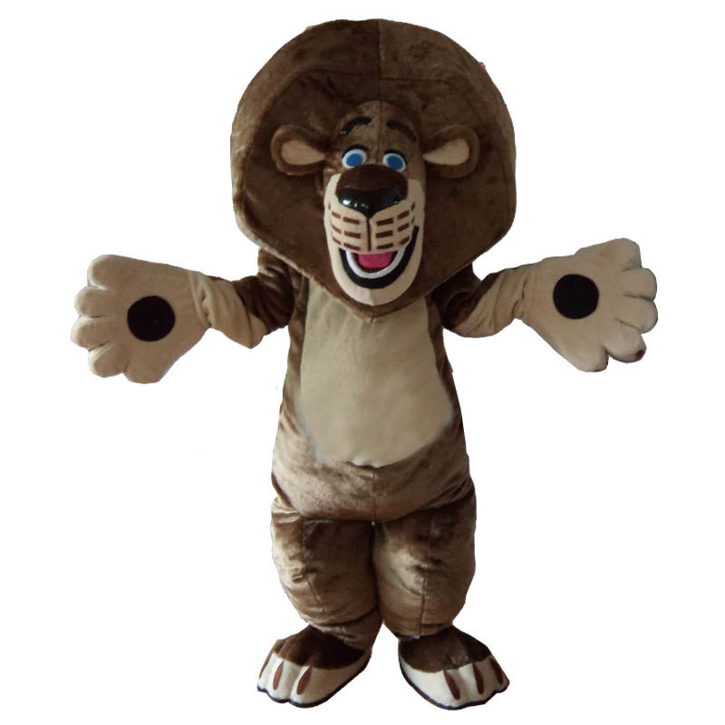 Lion Mascot Costume Cartoon Outfit Suit Free Shipping