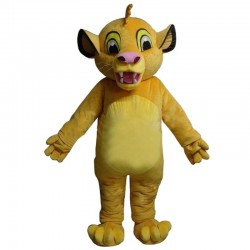 Masoct Lion King Simba Mascot Costume Custom Fancy Costume Anime Cosplay Kits Mascotte