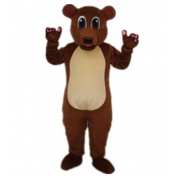 Grizzly  Brown Bear Adult Mascot Costume