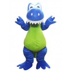 High Quality Blue Dragon Mascot Costume