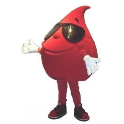 Red Drop of Water Blood Mascot Costume
