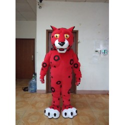Red Leopard Mascot Costume