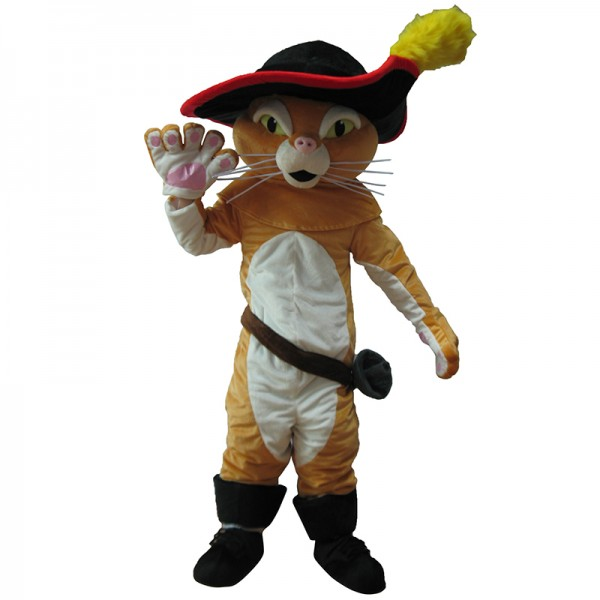 Puss In Boots Mascot Costume Free Shipping