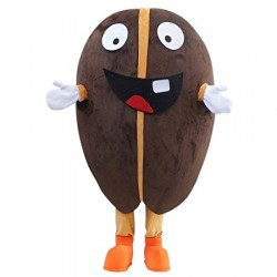Lovely Coffee Bean Cartoon Mascot Costume