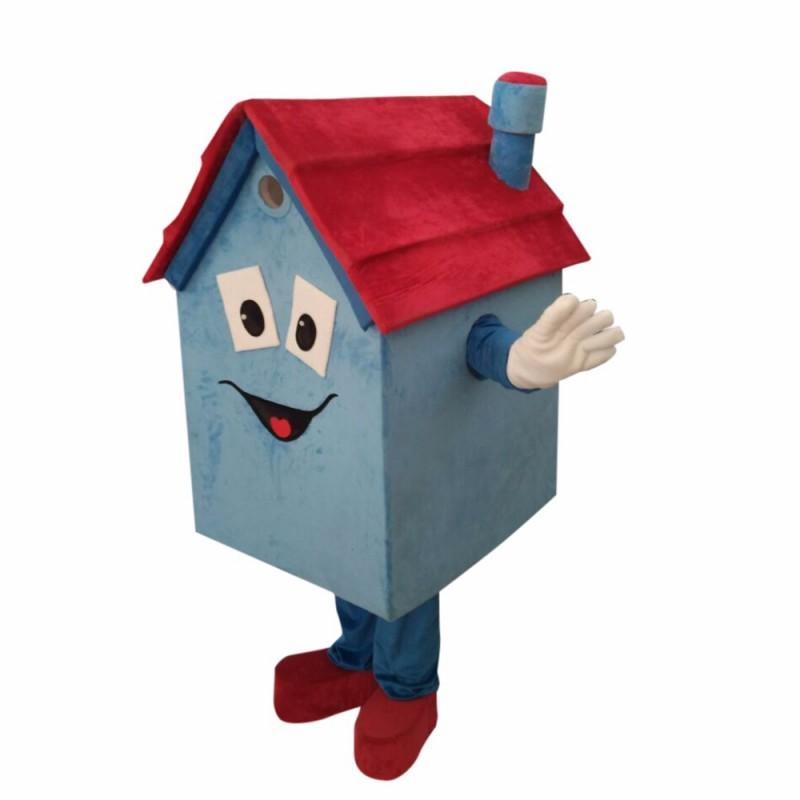 Blue House Mascot Costume