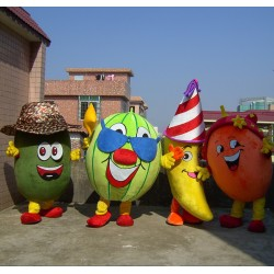 Kiwi,Watermelon,Banana,Orange Mascot Costume