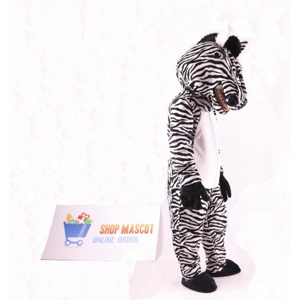 Cute Zebra Mascot Costume ( Black Gloves and Black Shoes Only)