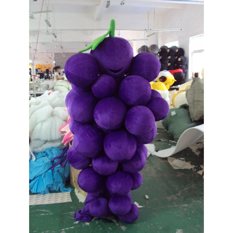 Grape Mascot Costume