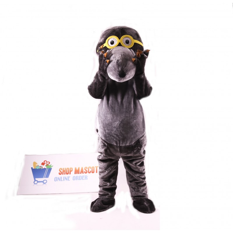 Glasses Mole Mascot Costume