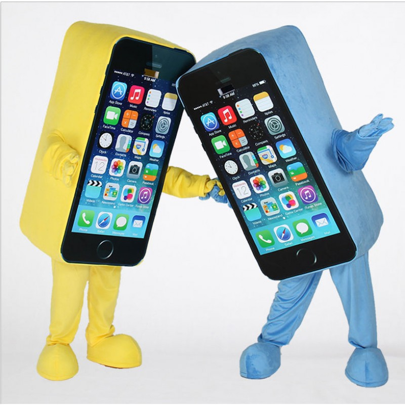 Iphone Mascot Costume Mobile Phone Mascot Costume