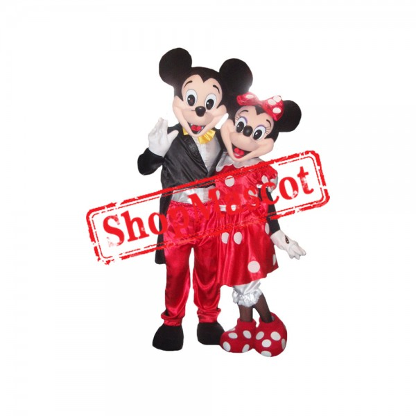 Clubhouse Mouse Regular Mouse Micky and Minnie Couple Mascot Costume