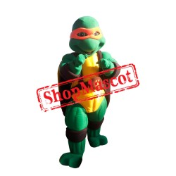 Orange Ninja Turtle 1 Mascot Costume