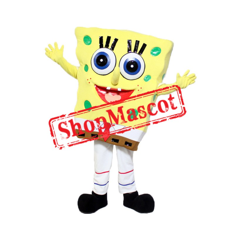 Yellow Sponge Mascot Costume