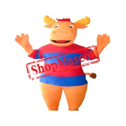 Orange Moose Mascot Costume