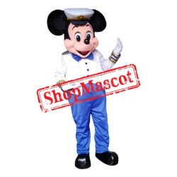 Mouse Clubhouse Sailor Mouse Mickey Mascot Costume