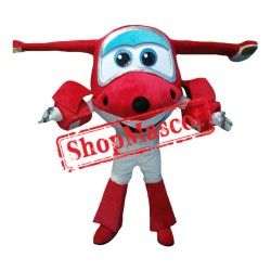 Super Wings Jett Red 1 Mascot Costume