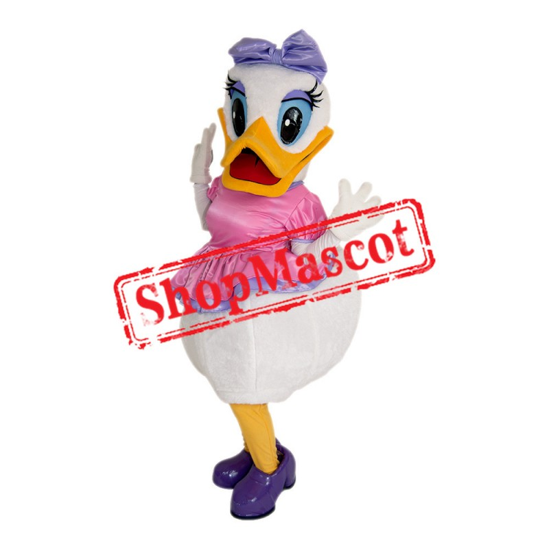 White Girl Duck Mascot Costume