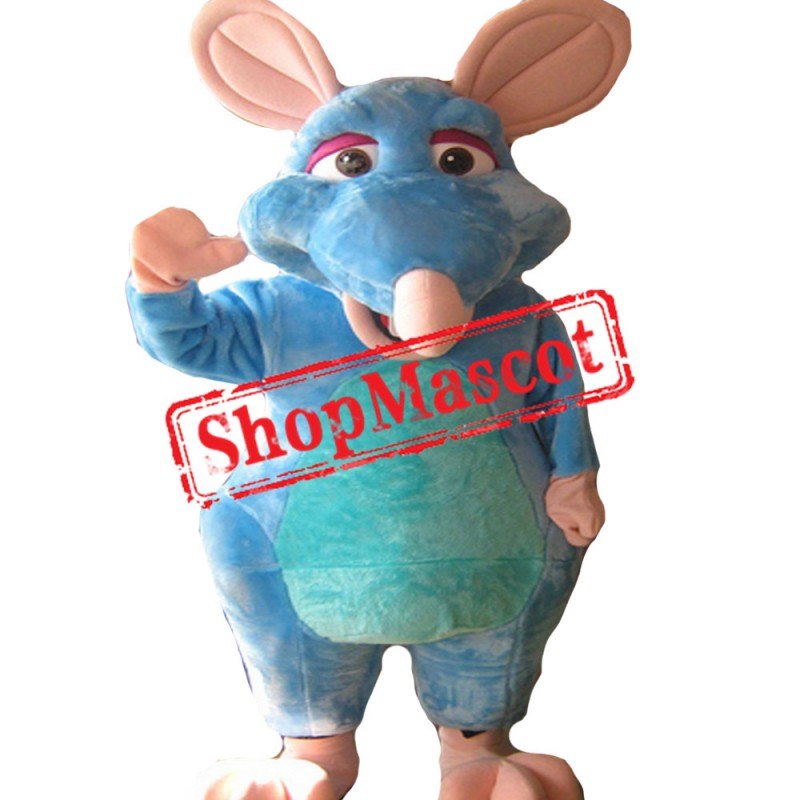 Blue Rat Mascot Costume