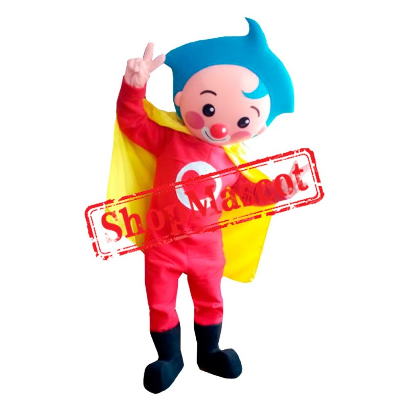 Plim Plim Clown Mascot Costume