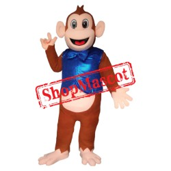 Monkey With blue Waistcoat Mascot Costume