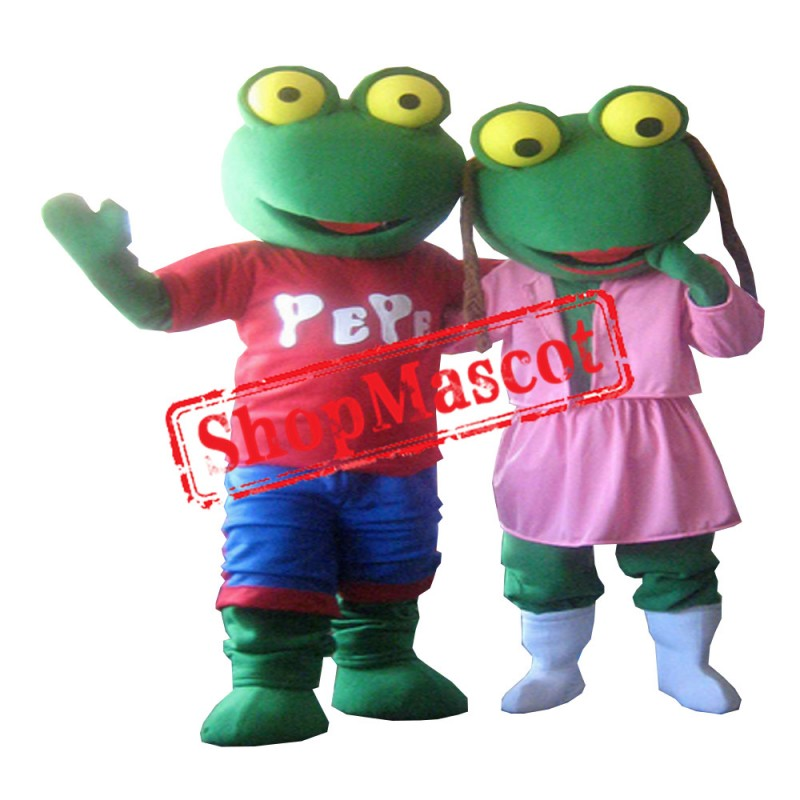 Girl Toad Mascot Costume