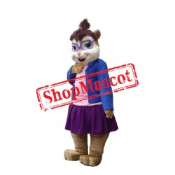Blue Chipmunk Mascot Costume