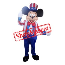 Mouse Clubhouse American Mouse Mickey Mascot Costume