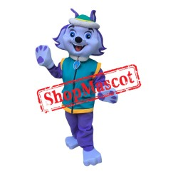 Paw Patrol Mint Dog Everest Mascot Costume