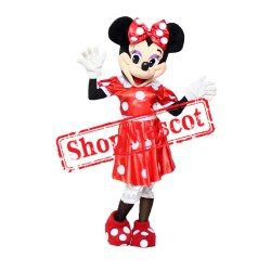 Mouse Clubhouse Regular Red Miss Mouse Minnie Mascot Costume