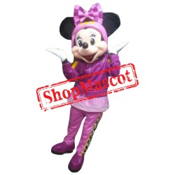 Mouse Clubhouse Racer Miss Mouse Minnie Mascot Costume