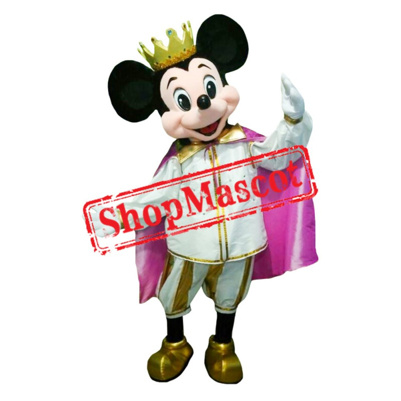Mouse Clubhouse King Mouse Mickey Mascot Costume