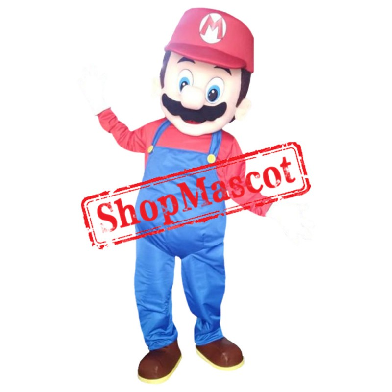 High Quality Red Mario Mascot Costume