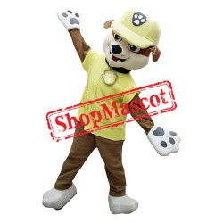 Paw Patrol Yellow Dog Rubble Mascot Costume
