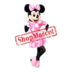 Mouse Clubhouse Regular Pink Miss Mouse Minnie Mascot Costume