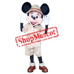 Mouse Clubhouse Safari Miss Mouse Minnie Mascot Costume