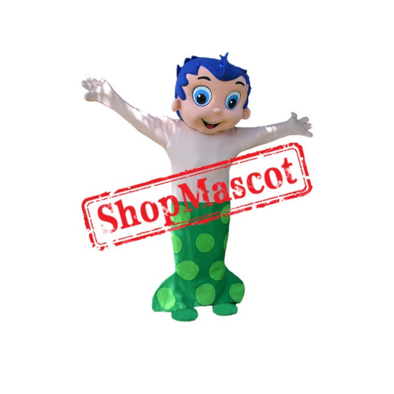 Blue Boy Mermaid Mascot Costume
