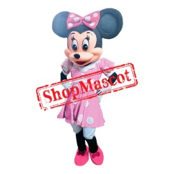 Mouse Clubhouse Pink Lady Mouse Minnie Mascot Costume